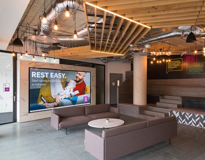 Videowall en las oficinas de AIB en Central Park