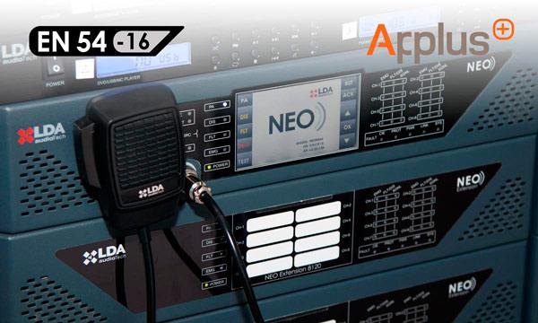 Tecnología de LDA NEO certificada por EN54 Applus