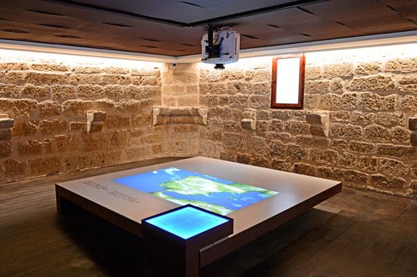Proyección cenital en el castillo-museo de Fuensaldaña