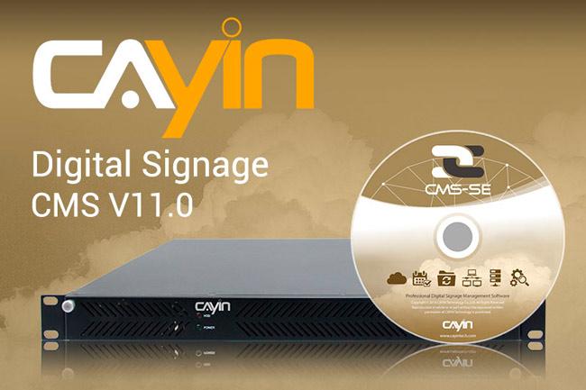 Imagen promocional con la actualización a la versión 11 del software CMS de CAYIN