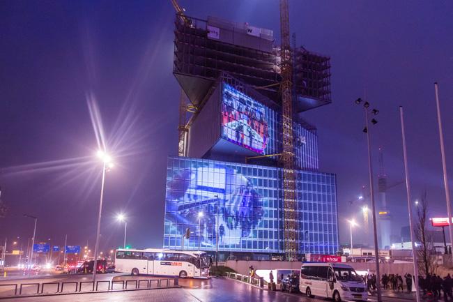Instalación audiovisual en el edificio anexo al pabellón de ISE 2019