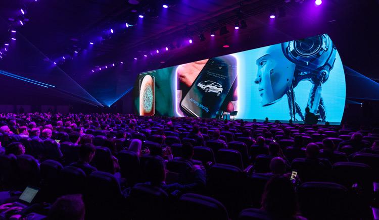 Demostración de la tecnología de Christie en el Mobile World Congress