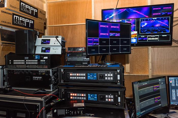 Equipamiento de control para los sistemas de Christie en el Mobile World Congress de Barcelona