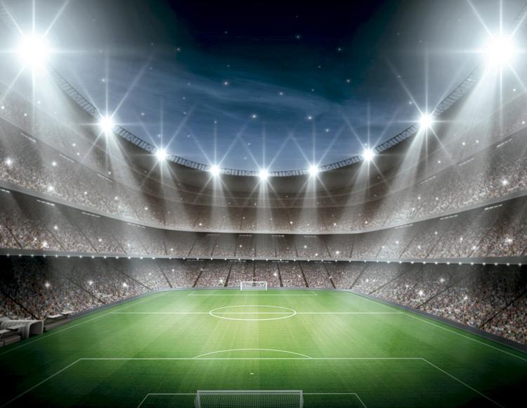 Imagen de recurso de un estadio de fútbol por la noche