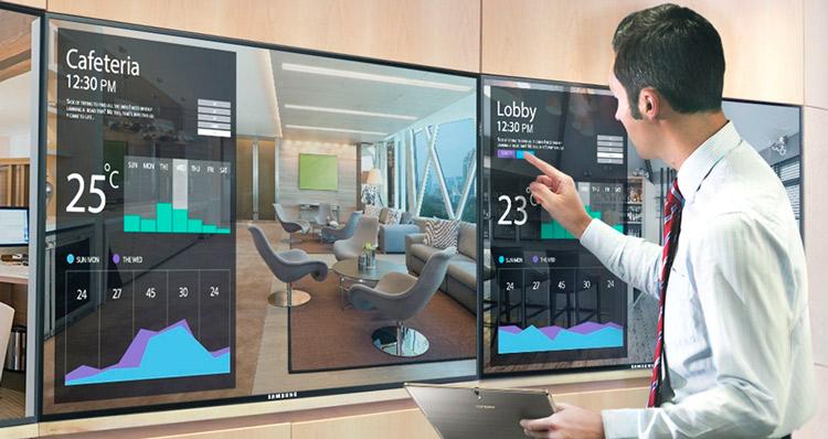 Pantallas de Samsung integradas en hoteles