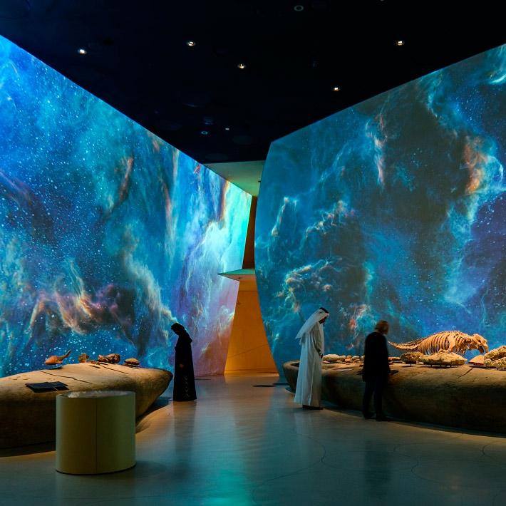 Visión nocturna en el Museo de Catar con proyección 4K de Panasonic