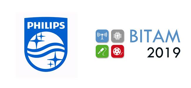Logo de Philips y de la edición 2019 de la feria Bitam 2019