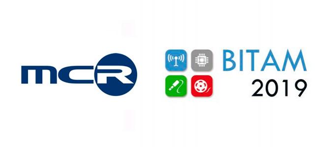 Logo MCR, patrocinador prémium de la feria, y Bitam 2019