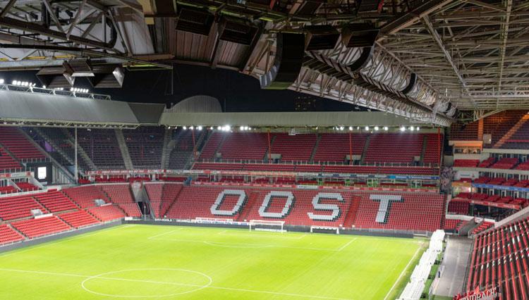 Equipos ArenaMatch del equipo de fútbol PSV en el Philips Stadion