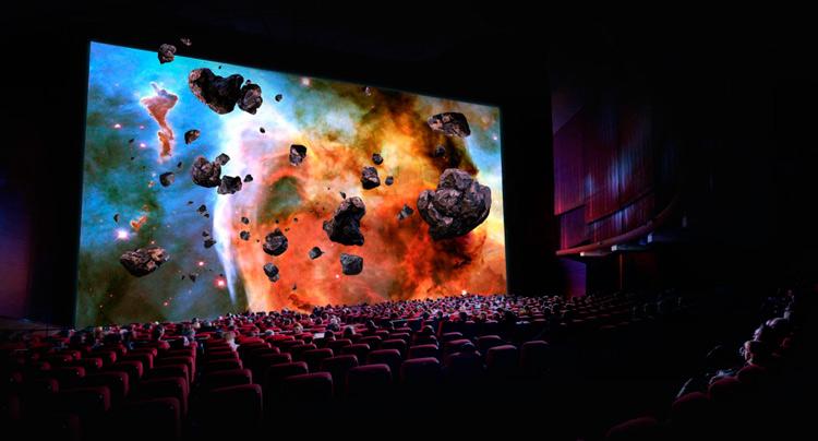 Simulación de la calidad de imagen en una pantalla de cine Onyx de Samsung