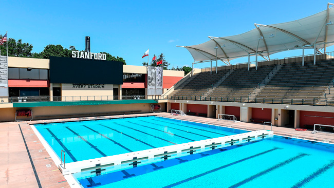 Equipos de Meyer Sound en el Avery Aquatic Center de Stanford