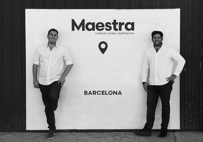 Co directores del grupo Maestra en su nueva sede de Barcelona