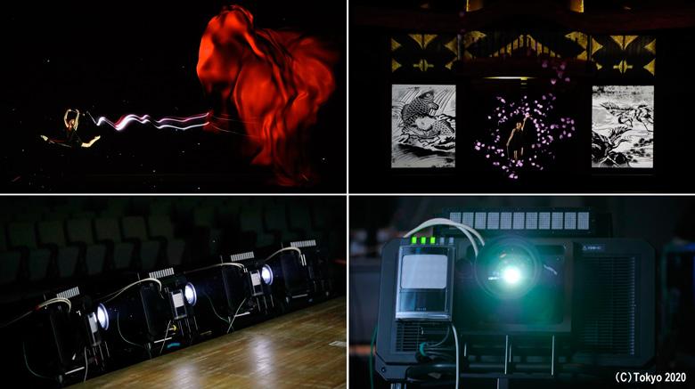 Proyecciones de Panasonic con tecnología de tracking para dar comienzo a los Juegos Olímpicos de Tokyo 2020