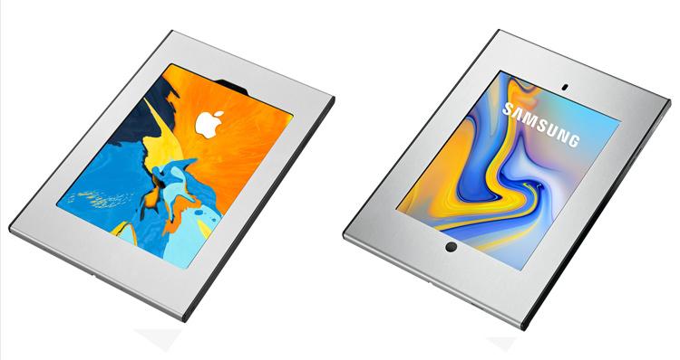 Tablets de Apple y Samsung con el sistema de seguridad TabLock de Vogel's Professional