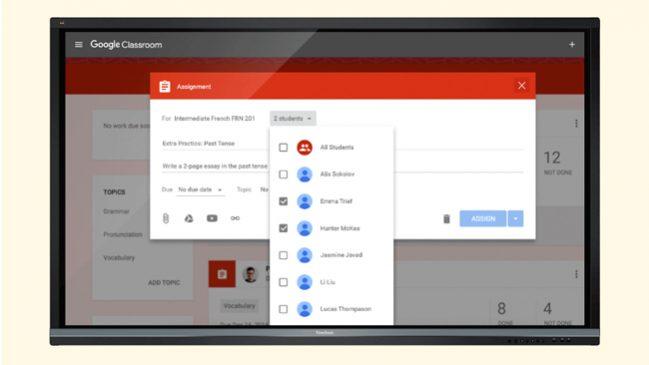 Google-Classroom-en-un-monitor-Viewsonic