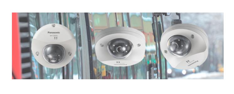 Tres de los modelos que integran la serie i-Pro Extreme de vigilancia de Panasonic