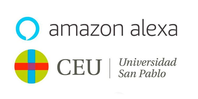 Logos de Amazon Alexa y de CEU San Pablo