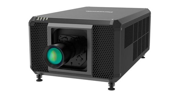 Vista en perspectiva del nuevo proyector de Panasonic, el CG-RQ50K
