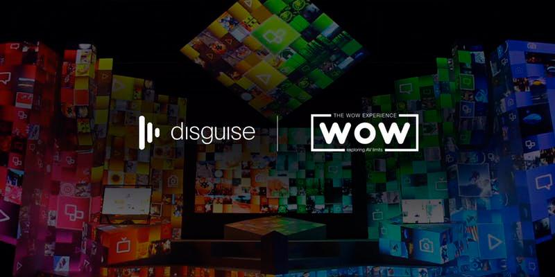 Cartel con la colaboración entre la empresa formativa Wow y disguise
