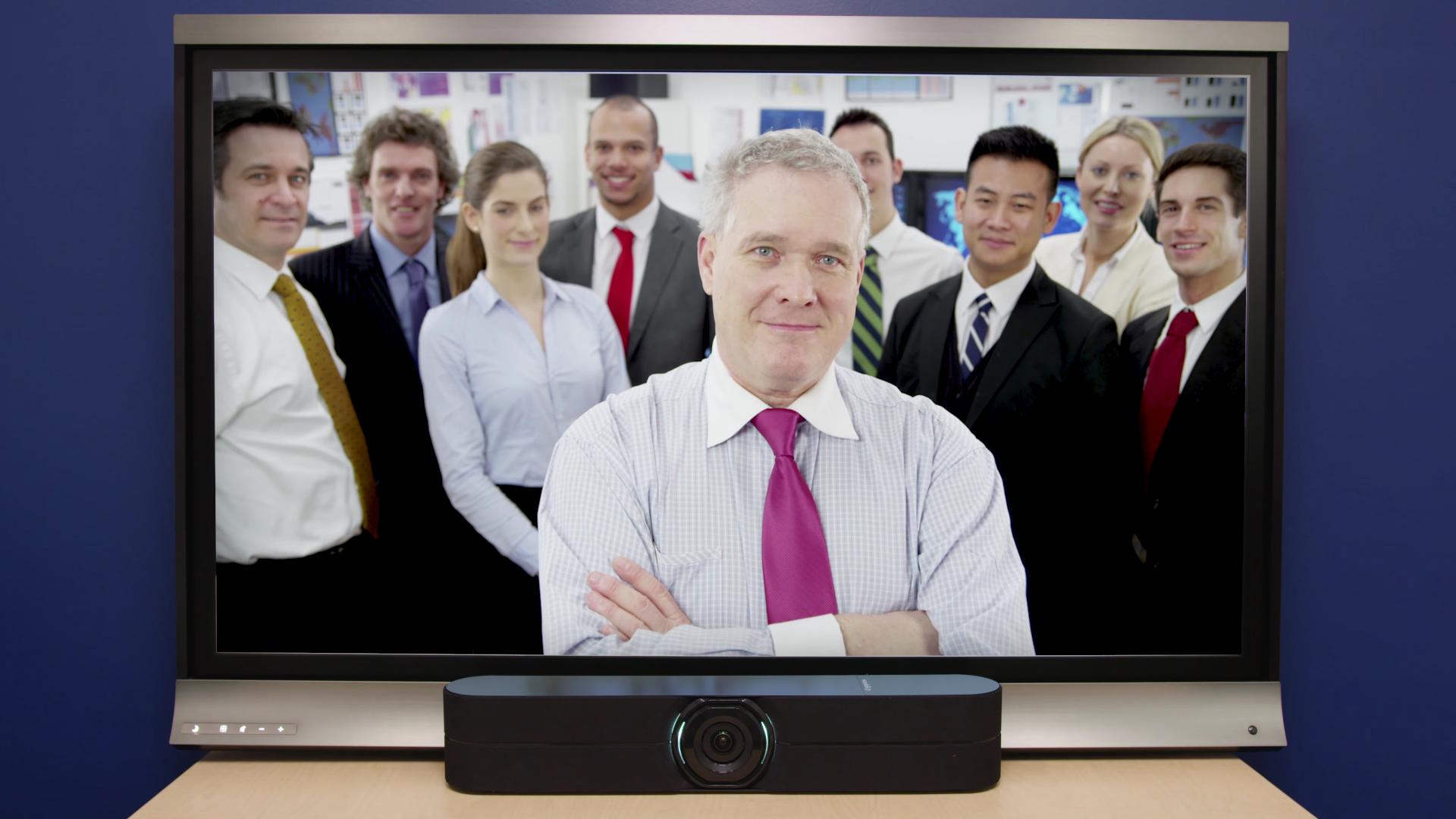 Aplicación del sistema Huddleshot de Vaddio en un entorno de oficina.