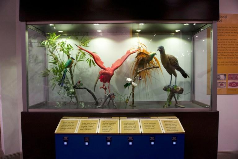 Instalación de CET del museo del dinero del Banco Central de Trinidad y Tobago