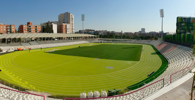Equipamiento de Optimus en el Estadio Vallehermoso en Madrid