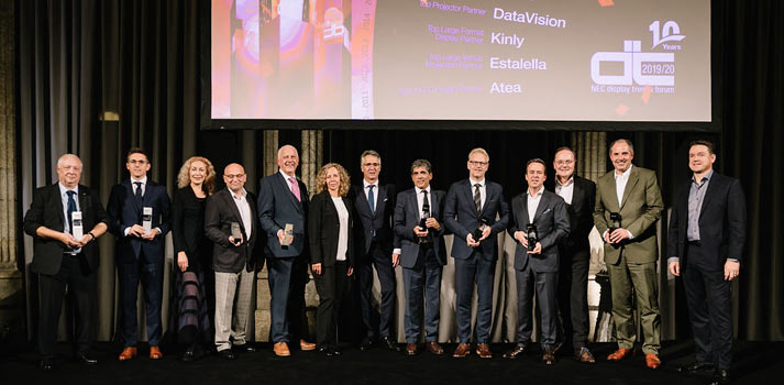 Display Trends Forum Partner Awards de NEC galardonados en la edición 2019 del evento