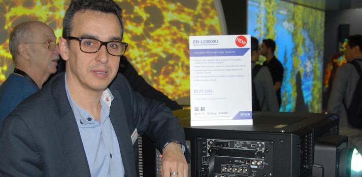 Jordi Pallicera de Epson en la feria ISE 2020