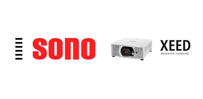 Logotipo-de-Sono-con-un-dispositivo-XEED-de-Canon