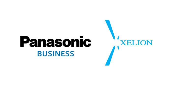 Imagen compuesta de los logos de Panasonic Business y Xelion