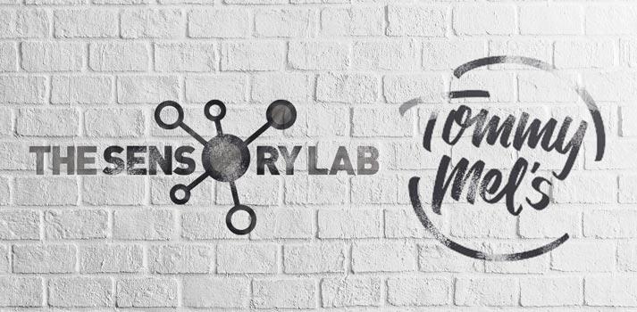Logotipos de The Sensory Lab y Tommy Mels