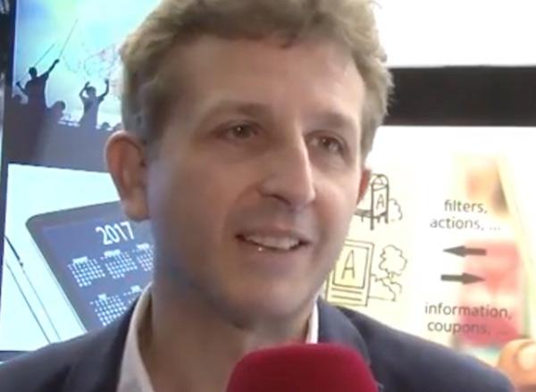 Luis del Ser, co-fundador de Movilok, siendo entrevistado