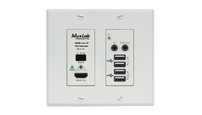 Panel de control MuxLab 500777 RX WH