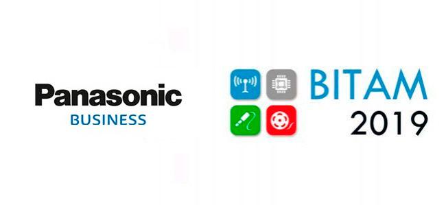 Logo de Panasonic Business y de la feria Bitam Show 2019