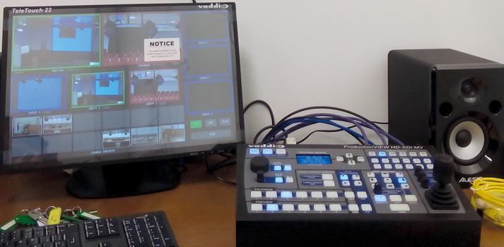 Control de vídeo con panel y mezclador implementado por Genuix