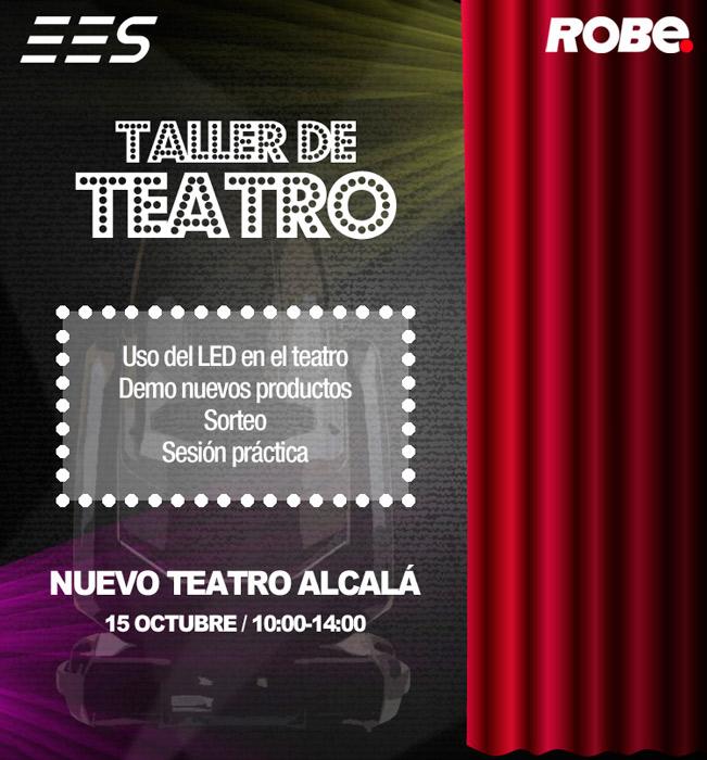 Robe y EES organiza un nuevo de taller de teatro el 15 de octubre en Madrid
