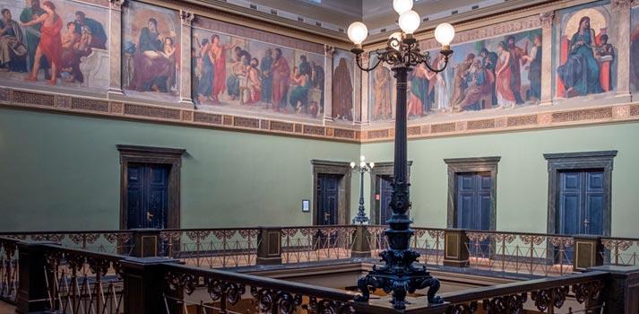 Pasillos de la Universidad Martin Luther de Halle-Wittenberg