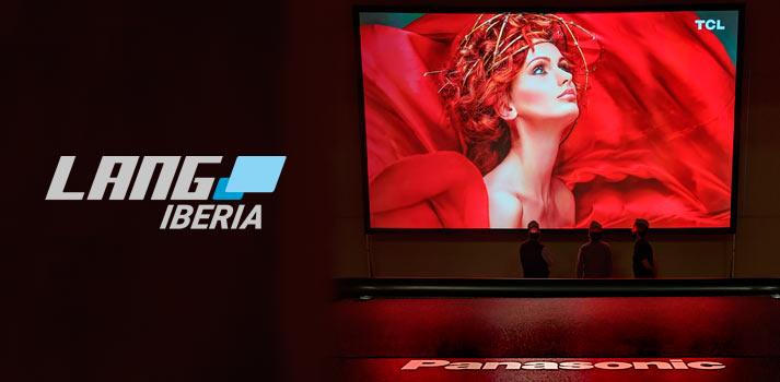 Monitor de Panasonic que ejemplifica el nuevo acuerdo de distribución firmado por Lang Iberia