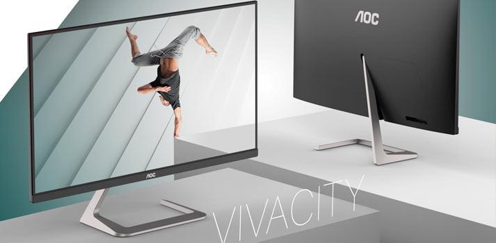 Monitor AOC Q27T1 diseñado por el Studio Porsche vista frontal y trasera