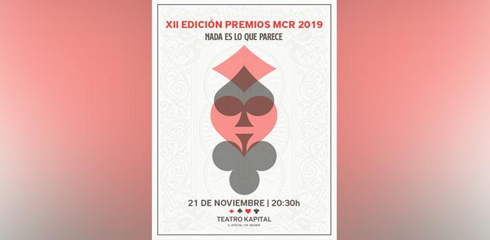 Cartel con la fecha y ubicación de los premios MCR 2019