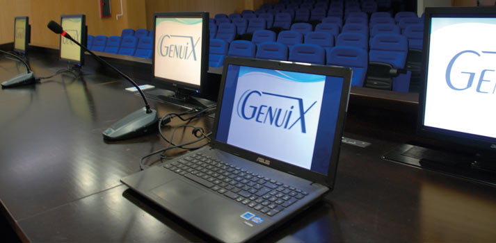 Salón de grados Severo Ochoa integrado por Genuix en la universidad Miguel Hernández