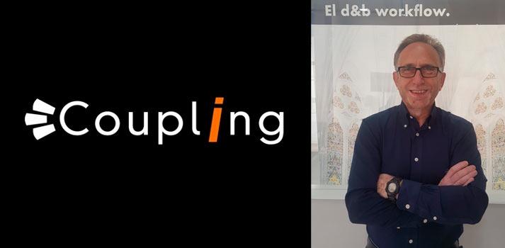 Miguel Herrero, director comercial de Coupling, y logo