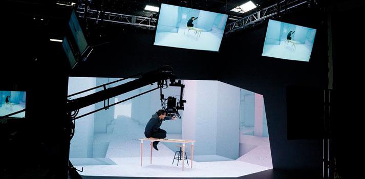 Estudio virtual worldstage NAB 2019 de disguise