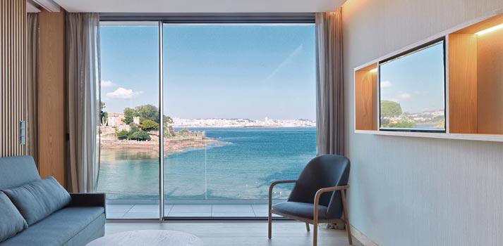 Vista de la habitación del Noa Boutique Hotel de A Coruña