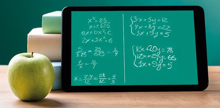 Tablet y ecuaciones matemáticas