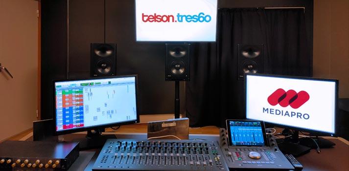Monitores Genelec integrados en Telson tres60