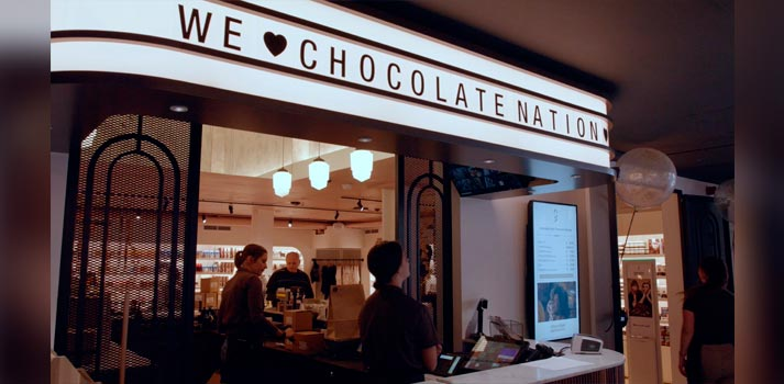 Uno de los espacios del museo de Amberes Chocolate Nation integrado con tecnología de Panasonic