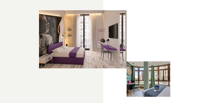 Dos habitaciones ubicadas en distintos hoteles Casual