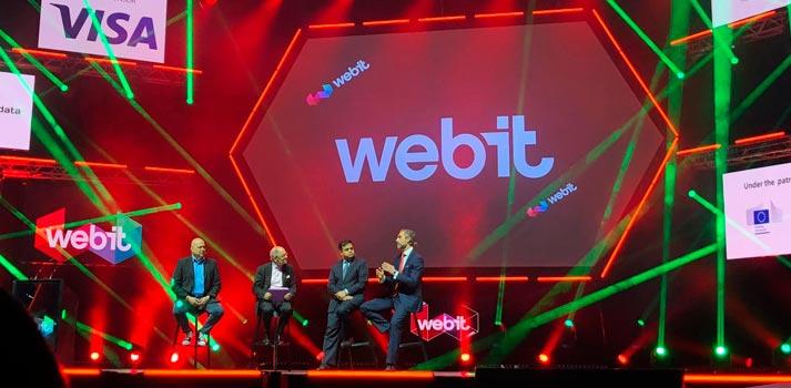 Escenario del festival Webit 2019, celebrado en Sofía