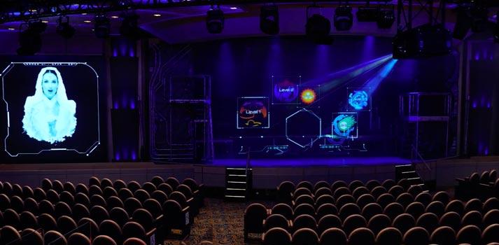 Auditorio Princess Cruises con proyector 4K Panasonic